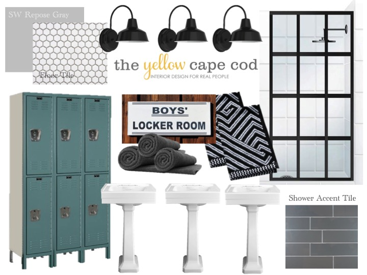 stay tuned for more room designs i created for this whole house design plan - Boys Bathroom