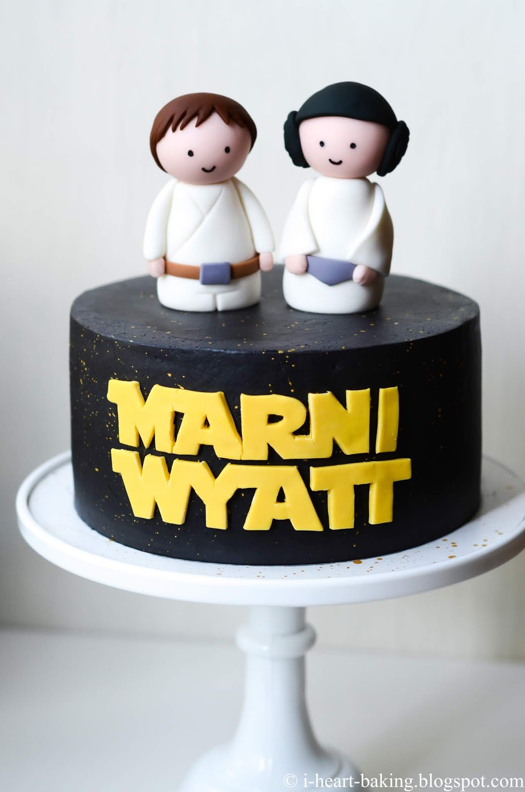 Tremendous I Heart Baking Star Wars Birthday Cake With Handmade Fondant Funny Birthday Cards Online Bapapcheapnameinfo