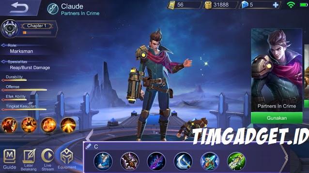 Inilah Build Hero Claude Mobile Legends, Damage Tersakit!