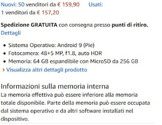 Capienza microSD