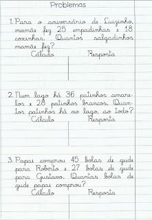 Pedagogas Da Paz Atividade De Matematica Situacoes Problemas 2º Ano Facil Letra Cursiva