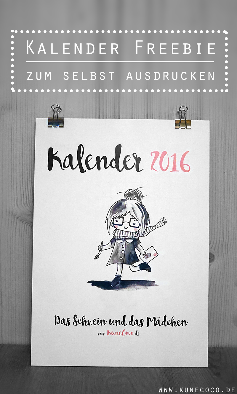 kalender 2016 zum selbst ausdrucken freebie und. Black Bedroom Furniture Sets. Home Design Ideas