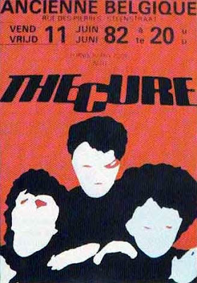 The Cure live in Belgium poster, 1982, Pornography tour