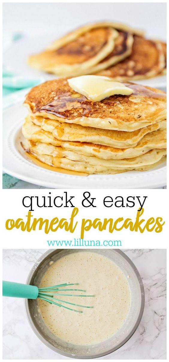 OATMEAL PANCAKES #oatmeal #Pancakes #Dessert #Americanfood #Italianfood #Food #Healthyrecipe  #Easyrecipe