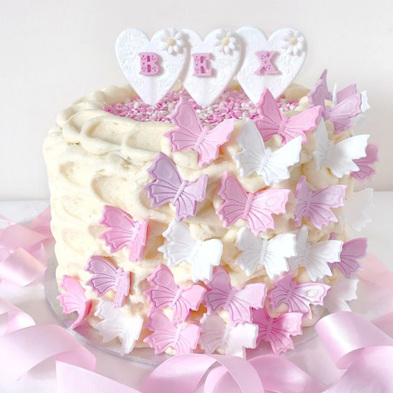 Love, Catherine | Girly Butterfly Birthday Cake