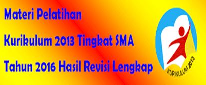 Materi Implementasi Kurikulum 2013 Tingkat SMA