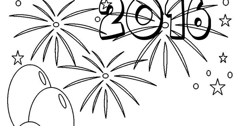coloring pages for new years 2015 - happy new year coloring pages 2016 realistic coloring pages