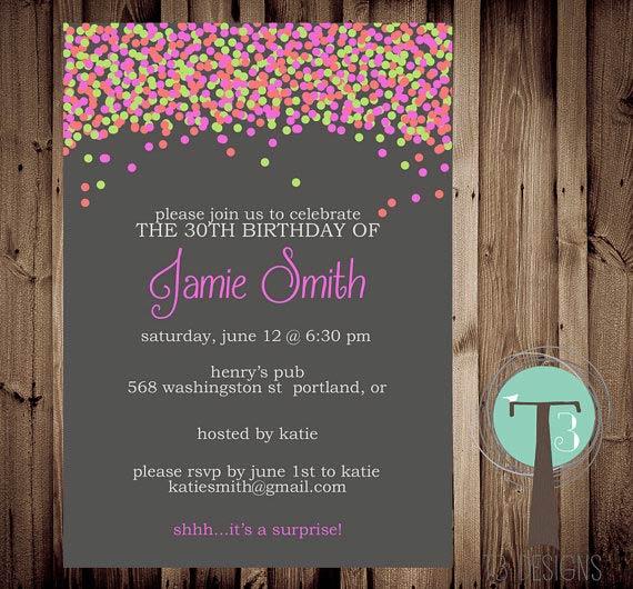 Adult Photo Birthday Invitation 70