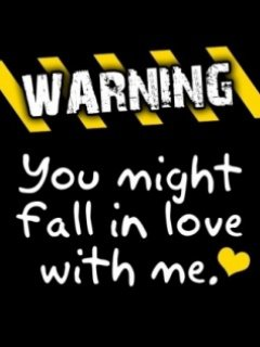 funny warning about love