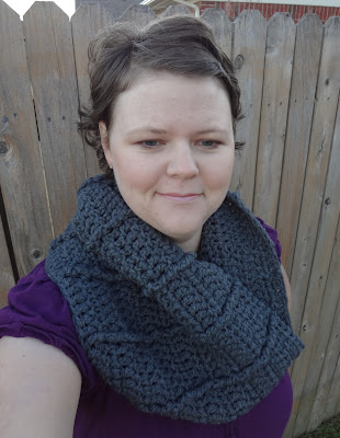 Chain Mail Cowl, free crochet pattern by April Garwood of Banana Moon Studio