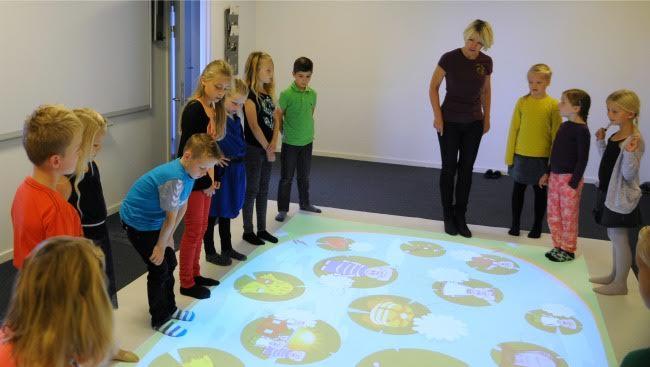 interactive floor projection game