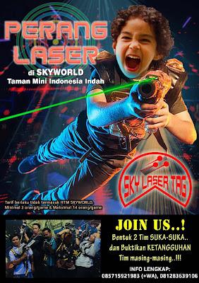 poster perang laser skyworld tmii
