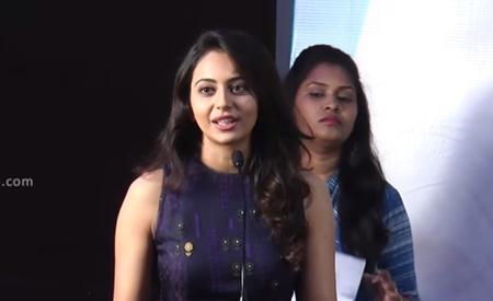 Without Karthi's Tamil Classes… Rakul Preet Singh At Theeran Audio Launch