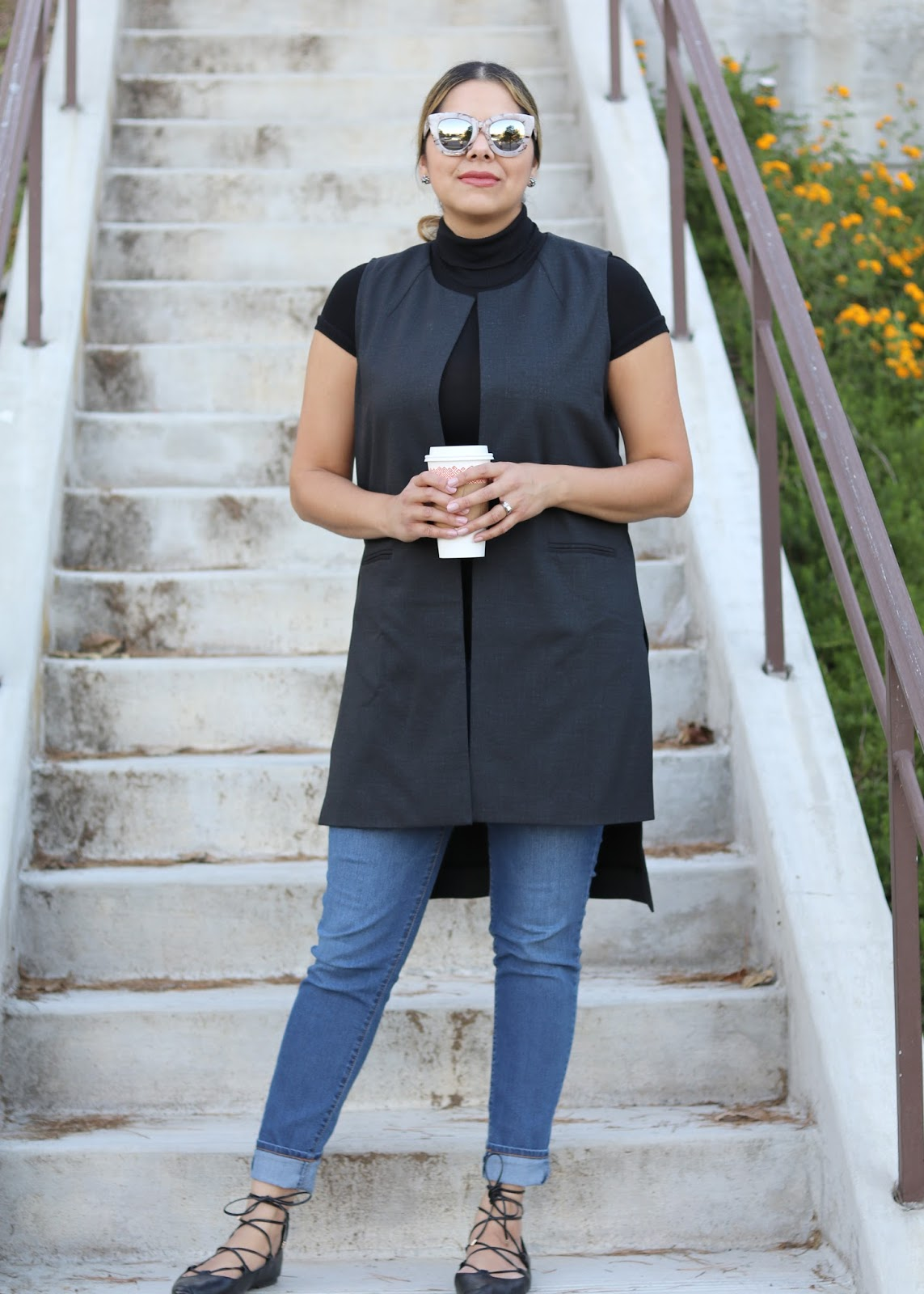 quay sugar and spice sunglasses, quay blogger, coffee date outfit, black turtleneck outfit