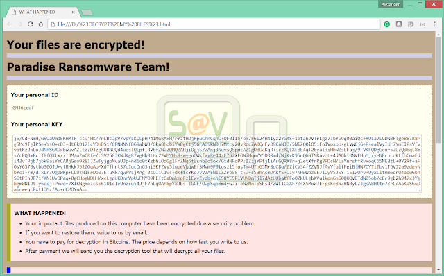 {File@p-security.li}.Recognizer (Ransomware)