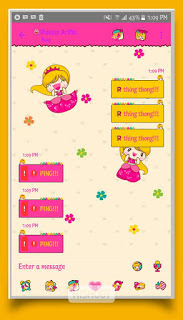 BBM Mod Valentine 2017 (BBM Princess) V3.2.5.12 Apk