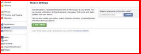 facebook sign in with mobile number