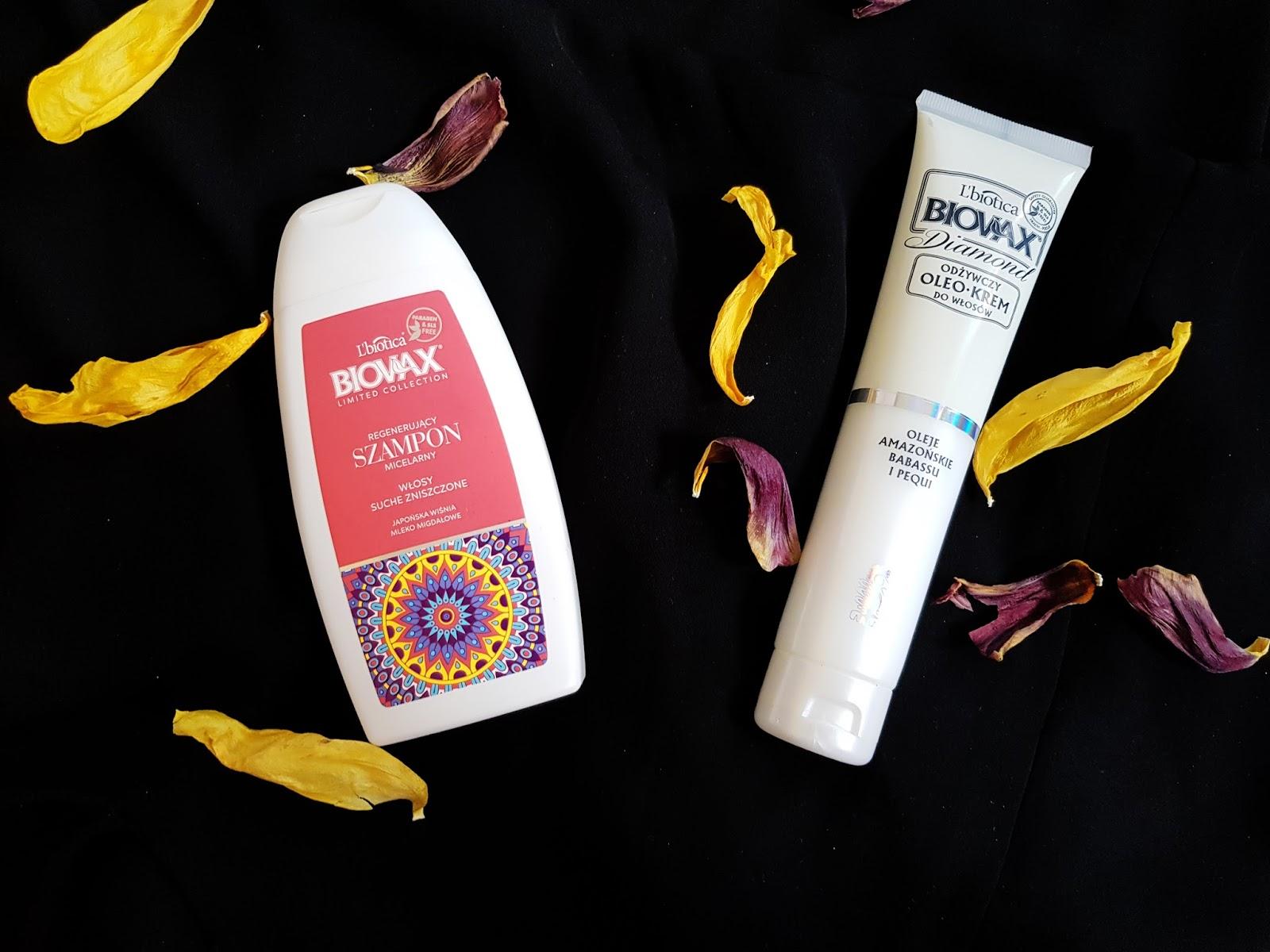 produkty biovax Micealny szampon i Oleo Krem