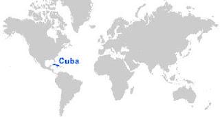 Gambar Peta letak Kuba