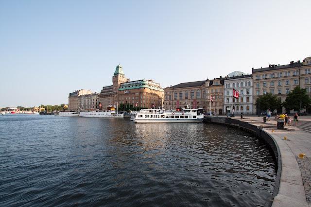 Zona del porto-Strandvajen-Stoccolma