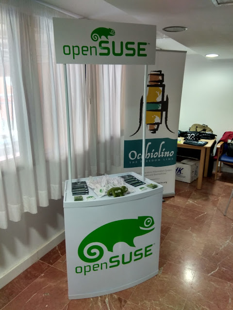 GNU Health conference 2018 - openSUSE booth