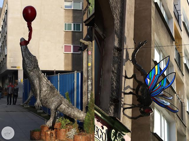 Wrocław street art kolano muchy