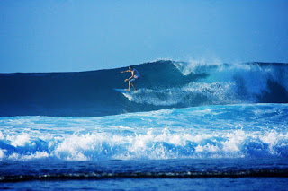 All About Bali Surfer at Mushroom Rock Nusa Dua