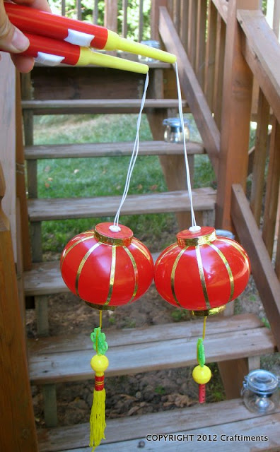 Craftiments.com:  The cheap plastic lanterns