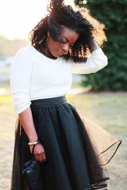 Serena Saga Outfit Black Tulle Skirt