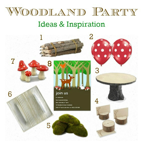 Woodland Party Ideas & Inspiration: Party decorations, party supplies, party invitations and more! www.lovethatparty.com.au
