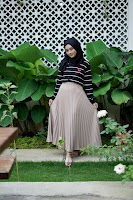 ANDHIMIND Carissa Pleated Skirt Mocca