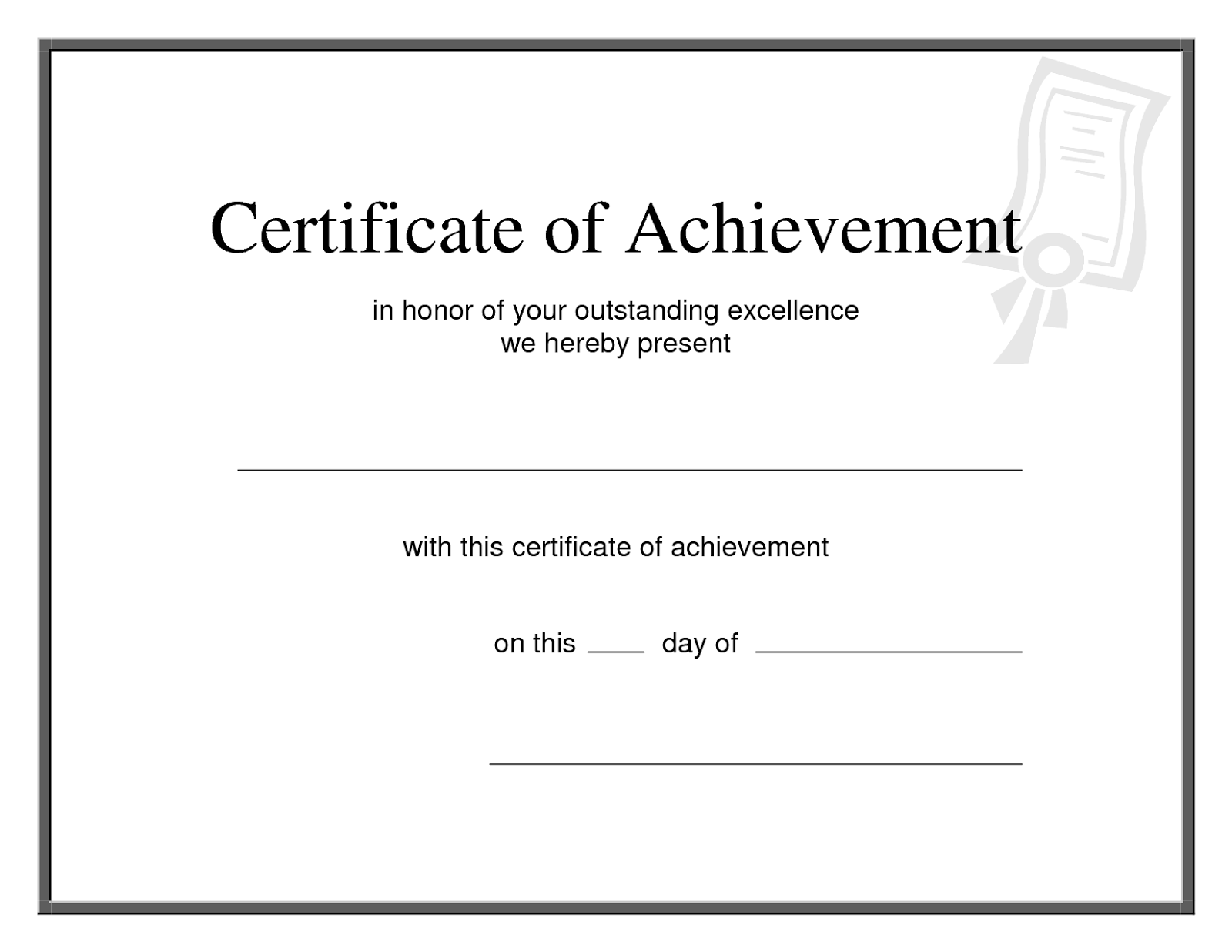 Microsoft certificate of achievement template apa templates microsoft certificate of achievement template yadclub Gallery