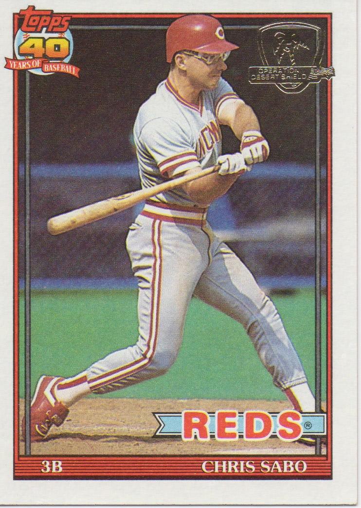 Cincinnati Reds Baseball Card Collector 1991 Topps Desert Shield Reds
