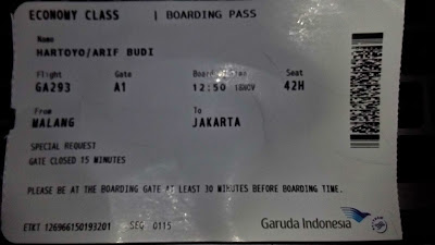 boarding pass malang