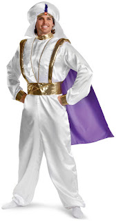 Men's Disney Aladdin Prestige Adult Costume - White for Halloween