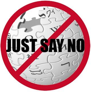 Just say no to Wikipedia - Dites juste NON à Wikipedia