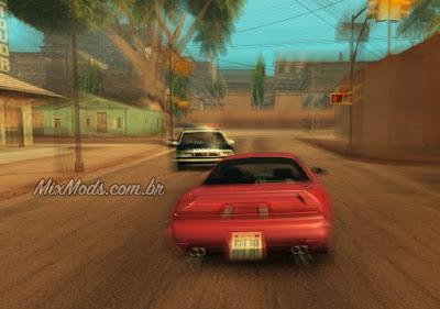 gta sa mod cleo polícia te perseguir alta velocidade correr carro