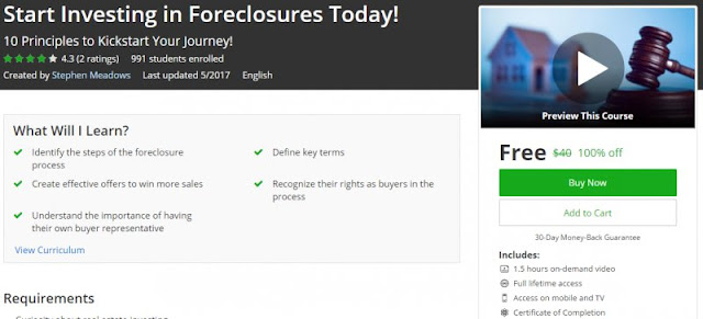 [100% Off] Start Investing in Foreclosures Today!|Worth 40$