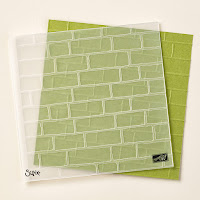 Take a closer look at the Brick Wall embossing folder by Stampin' Up!