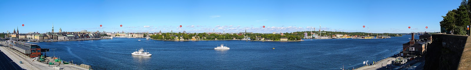 Stockholm - eine Panoramasicht von Södermalm
