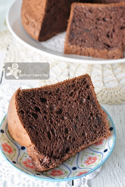 soft moist cocoa chocolate chiffon cake