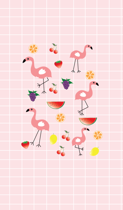 Cute flamingo theme v.2 (JP)