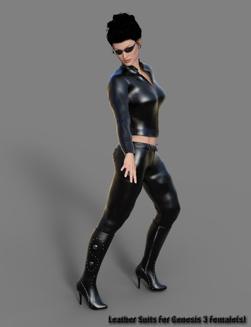 Leather Suits for Genesis 3 Female
