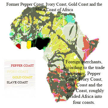 Pepper Coast, Ivory Coast, Gold Coast and the Slave Coast of Africa