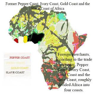 Pepper Coast, Ivory Coast, Gold Coast and the Slave Coast of Africa