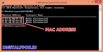 Cara Mengetahui MAC Address PC/Laptop