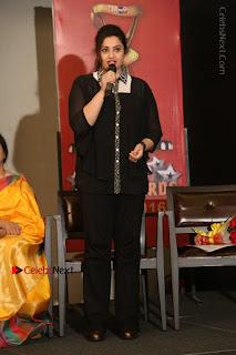 Tamil Actress Meena Latest Stills in Black Dress at TSR TV9 Awards Press Meet  0153.JPG