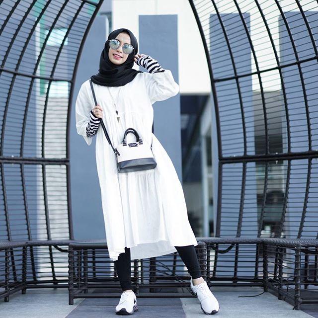 Model Gaya Hijab Casual kekinian cewek