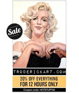 coupon code hotstuff20 www.troderickart.com