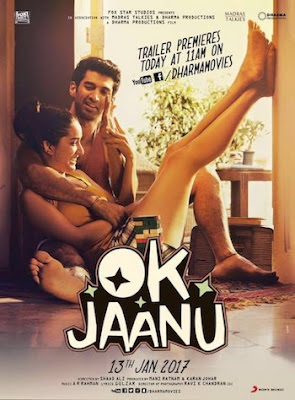 Poster of Ok Jaanu 2017 Theatrical Official Trailer Free Download HD 720P